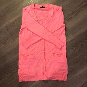 Euc J crew pink merino wool infinity cardigan xs